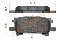 Колодки тормозные RR TOYOTA HARRIER,LEXUS RX330,350 03-