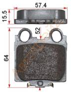 Колодки тормозные AKOK G1248-TR, задний