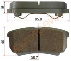 Колодки тормозные RR MITSUBISHI LANCER X 07- AKOK G1623-MR