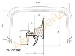 Молдинг лобового стекла CHEVROLET LACETTI 04- FLEXLINE FL-1563BZ