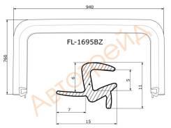 Молдинг лобового стекла CHEVROLET AVEO 07- 4D FLEXLINE FL-1695BZ