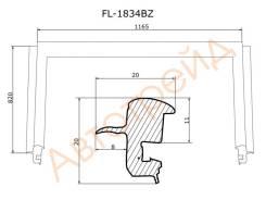 Молдинг лобового стекла CHEVROLET CRUZE/DAEWOO LACETTI 09- FLEXLINE FL-1834BZ