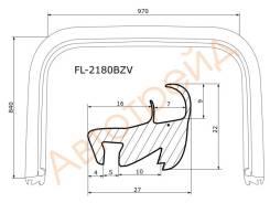 Молдинг лобового стекла FLEXLINE FL-2180BZV