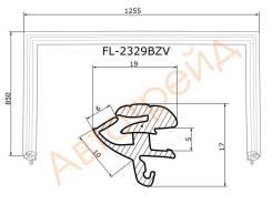 Молдинг лобового стекла FLEXLINE FL-2329BZV