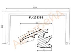 Молдинг лобового стекла SUBARU FORESTER 02-08 FLEXLINE FL-2333BZ