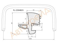 Молдинг лобового стекла INFINITI FX35/FX45 03-08 FLEXLINE