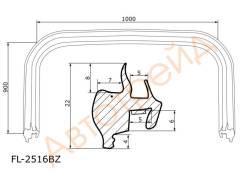 Молдинг лобового стекла HYUNDAI TUCSON 04-09 FLEXLINE FL-2516BZ