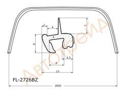 Молдинг лобового стекла SUZUKI SX4/FIAT SEDICI 06- 4/5D FLEXLINE FL-2726BZ
