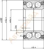 Подшипник FR ступицы TOYOTA VITZ/BELTA/RACTIS 05- с ABS NSK 40BWD17