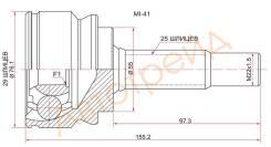 Шрус MMC Colt 4G15/4G19, Z24A/Z25/Z27, 02-