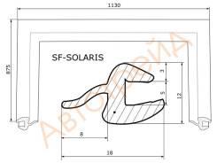 Молдинг лобового стекла HYUNDAI SOLARIS/KIA RIO 10- SAT SF-SOLARIS