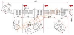 Шланг тормозной задний (Таиланд) HONDA ACCORD 02- LH