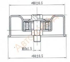 Натяжной ролик приводного ремня SAT ST-11955-6N200 Nissan Prairie, RNM12