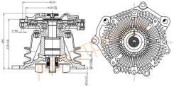 Вискомуфта в сборе с помпой TD27Ti/QD32Ti terrano 50/elgrand 50(подходит крыльчатка ST-21060-43G00) SAT ST-21010-0W825