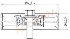 Обводной ролик приводного ремня SAT ST-25286-2B010 Hyundai Solaris