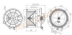 Мотор отопителя салона NISSAN X-TRAIL T31 07-14/QASHQAI/DUALIS 06-14 SAT ST-27225-EN000