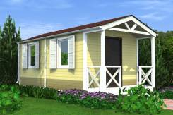 Теплая дача с террасой. до 100 кв. м., 1 этаж, 2 комнаты, каркас