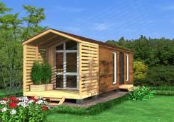 Современный дом с санузлом. до 100 кв. м., 1 этаж, 3 комнаты, каркас