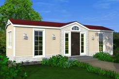 Загородный дом. до 100 кв. м., 1 этаж, 4 комнаты, каркас