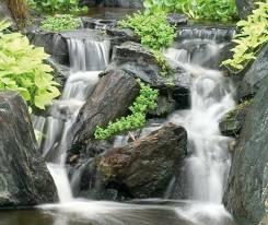 Водопады и каскады садовые. Под заказ