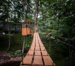 Беседки на деревьях и подвесные мосты в вашем саду