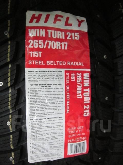 Hifly Win-Turi 215. Зимние, шипованные, без износа, 4 шт