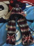 Шапка и шарф. Рост: 98-104 см