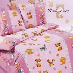 Милый комплект постельного в кроватку 6 предметов