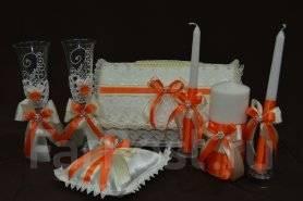 Свадебный набор, ( цвет- айвори с оранжевым). Салон EDEN FOR Brides. Под заказ