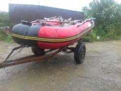 Продам моторную лодку с прицепом. Год: 2011 год, длина 3,00м., двигатель подвесной, 9,90л.с., бензин