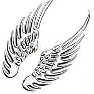 Наклейка крылья металл