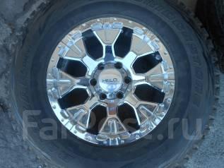 Новое литьё R17х9 6х139.7 с новыми шинами 285/70R17 Bridgestone. 9.0x17 6x139.70 ET-22 ЦО 105,0мм.