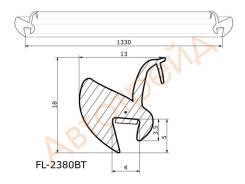 Молдинг лобового стекла HONDA ELEMENT 03- FLEXLINE FL-2380BT