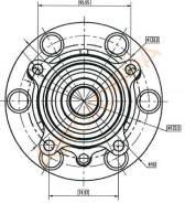 Ступица FR MMC L200/PAJERO SPORT 05- (в сборе) SAT ST-MR992374
