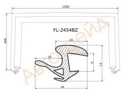 Молдинг лобового стекла FLEXLINE FL-2454BZ