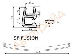 Молдинг лобового стекла FORD FUSION 2002- нижний SAT SF-FUSION