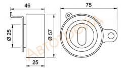 Натяжной ролик ремня ГРМ TOYOTA 4-7A-FE 92- NSK 57TB0505B01