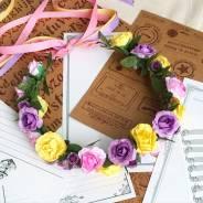 Венок с цветами для фотосессии или праздника! Авторская работа