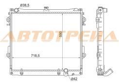 Радиатор охлаждения двигателя. Lexus LX570 Toyota Land Cruiser, UZJ100, UZJ200
