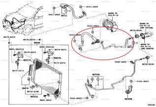 Трубка кондиционера. Toyota Premio, ZZT240, ZZT245 Toyota Allion, ZZT240, ZZT245 Toyota Caldina, ZZT241, ZZT241W Двигатель 1ZZFE