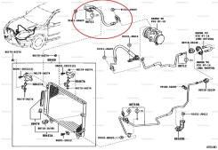 Трубка кондиционера. Toyota Allion, ZZT240, ZZT245 Toyota Premio, ZZT240, ZZT245 Двигатель 1ZZFE