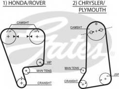 Ремень ГРМ. Honda Civic Honda Concerto Honda Civic CRX Honda Prelude Двигатели: D16A9, D16A8, D16Z4, D16Z5, B20A9, B20A5, B20A6, B20A7