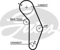 Ремень ГРМ. Mitsubishi: Lancer Cedia, Eterna, Emeraude, Bravo, Galant, Galant Sigma, RVR, Lancer, Chariot, Libero