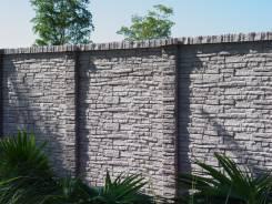 Новинка! Двухсторонний бетонный забор под камень. Отличная цена
