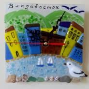 """Шикарные часы из серии """"Мой Владивосток"""" ручная работа. Под заказ"""