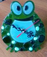 """Эксклюзивные часы """"Лягушка""""ручной работы!"""