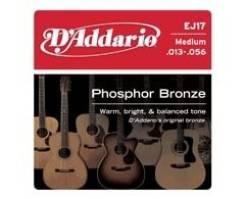 D'Addario EJ17 Фосфорная Бронза Medium струны акустической гитары13-56