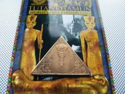 *245. Остров Мэн 1 крона 2008. (Тутанхамон, посмертная маска) Буклет.