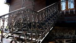 Перила кованые, леера, балконы, металлические. Под заказ