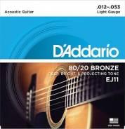 D'Addario EJ11 Бронза 80/20 Light 12-53 Струны для акустической гитары